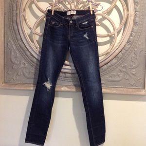 Hollister Jeans - HOLLISTER SOCIAL STRETCH DENIM JEANS DISTRESSED